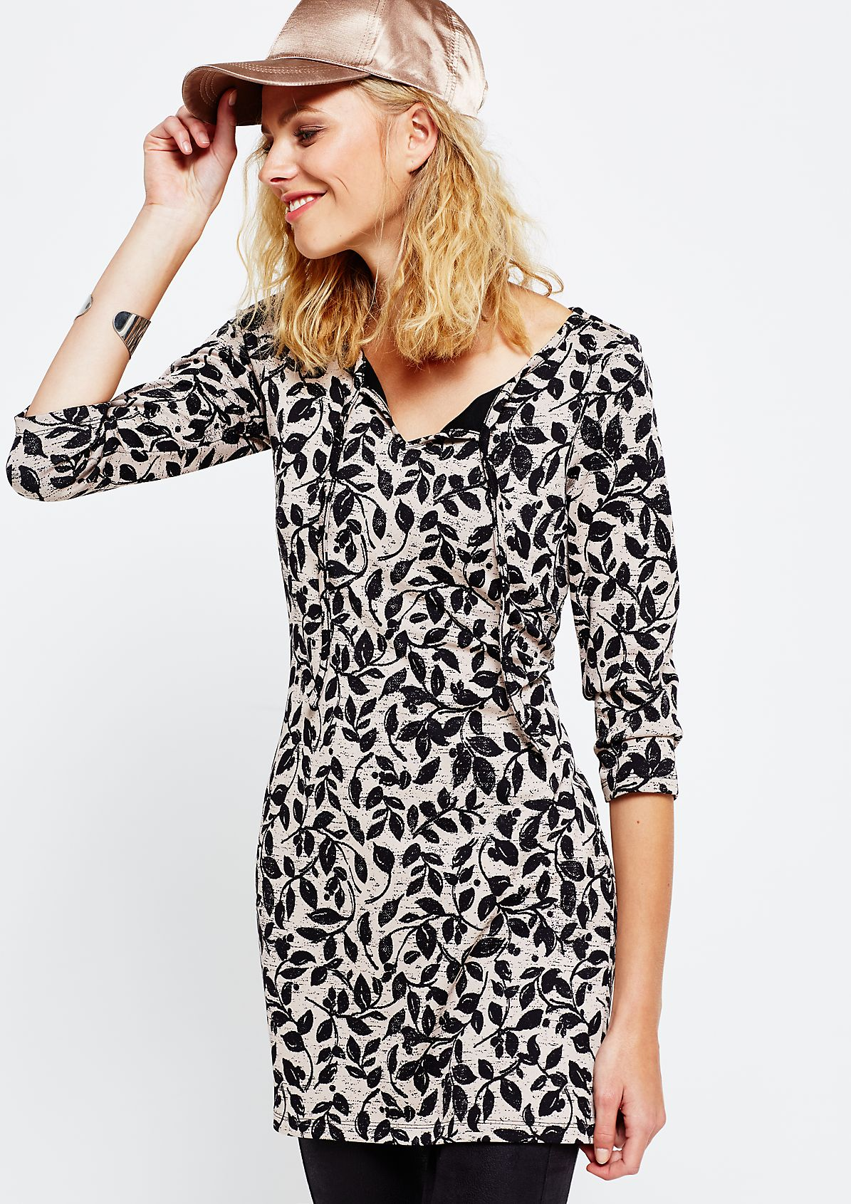 Long top with 3/4-length sleeves and a fascinating all-over print from s.Oliver
