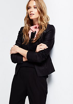 Modern short blazer with decorative zips from s.Oliver