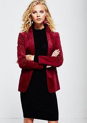 Elegant business blazer in soft velvet from s.Oliver