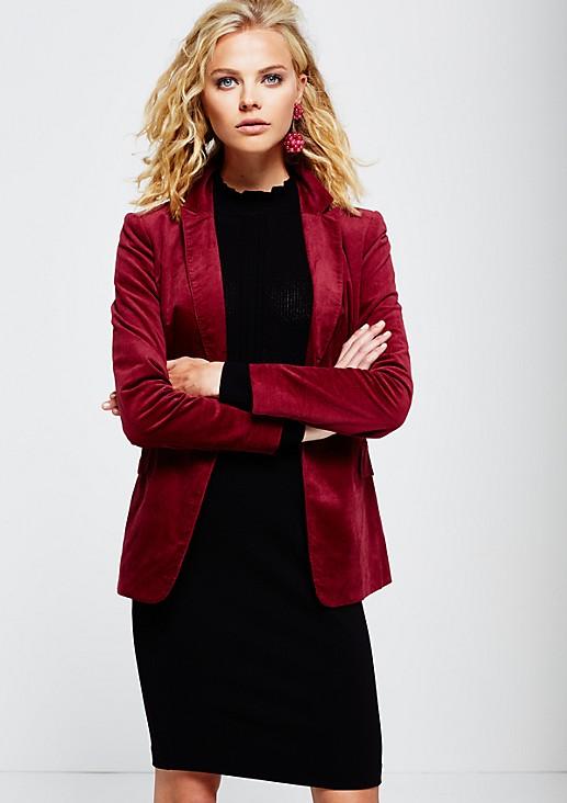 Elegant business blazer in soft velvet from s.Oliver