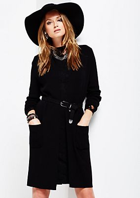 Beautiful long cardigan with sophisticated details from s.Oliver