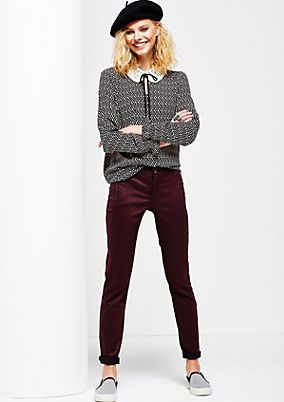 Elegant jeans with a matte sheen from s.Oliver