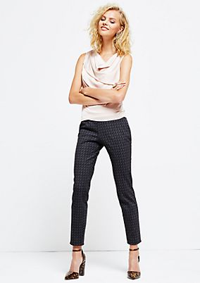 Elegant business trousers with a fine all-over pattern from s.Oliver