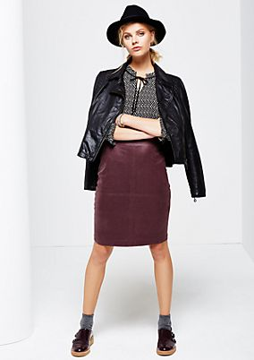 Extravagant imitation leather skirt with beautiful embossing from s.Oliver
