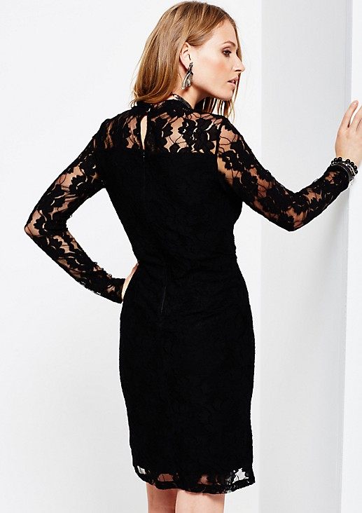 Glamorous evening dress in delicate lace from s.Oliver