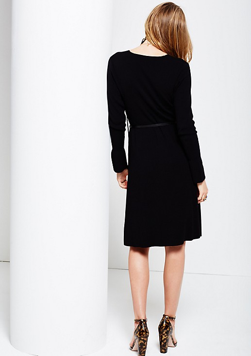 Beautiful knitted dress with a fine ribbed pattern from s.Oliver