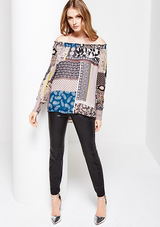 Delicate crêpe blouse with an attractive all-over print from s.Oliver