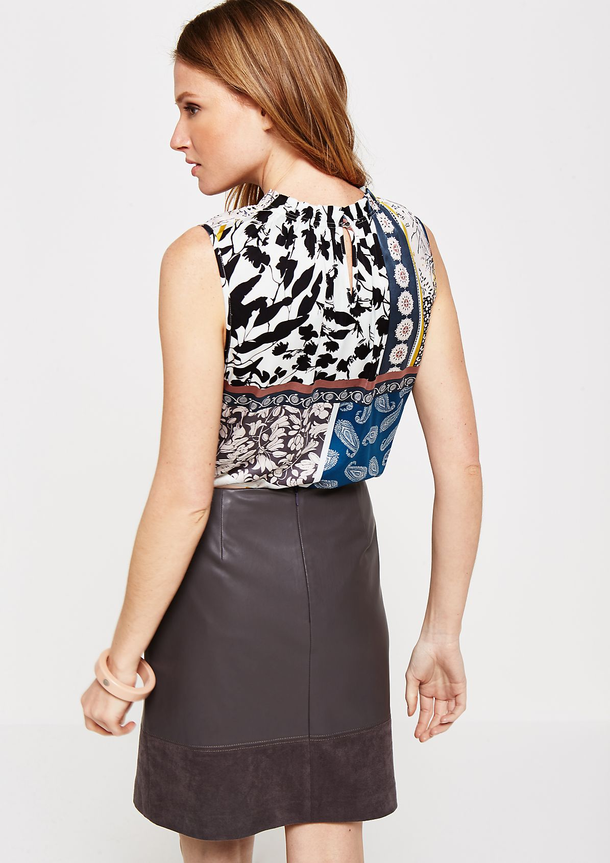 Lightweight satin top with an elaborate all-over print from s.Oliver