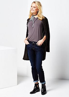 Soft jersey long sleeve top with sophisticated details from s.Oliver