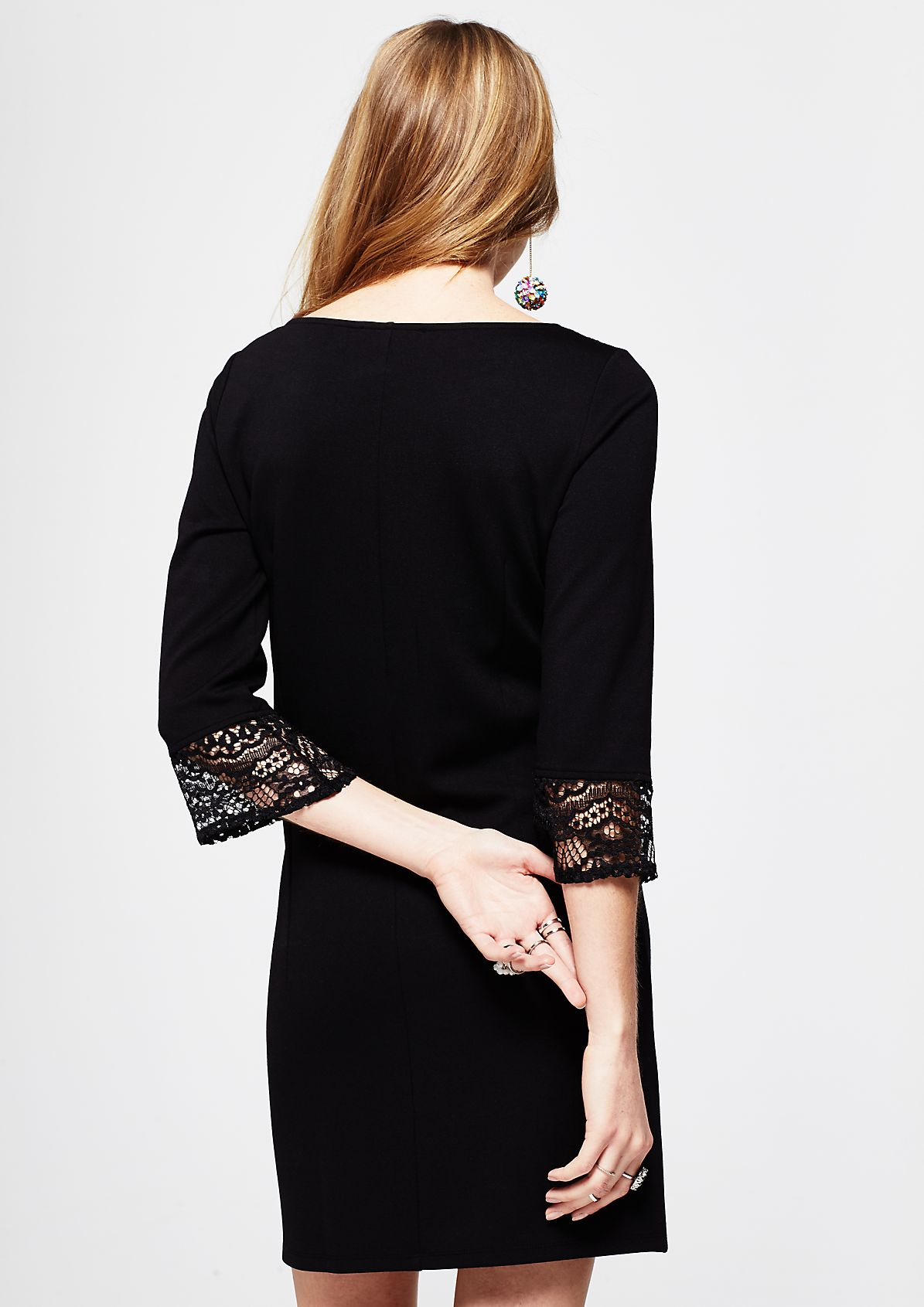 Glamorous evening dress with lace decoration from s.Oliver