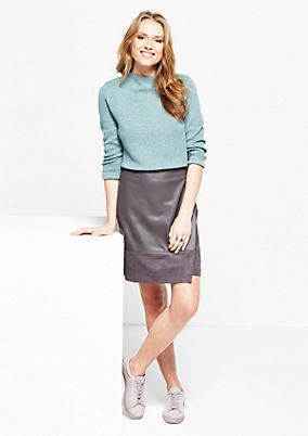Elegant knit jumper with 3/4-length sleeves from s.Oliver