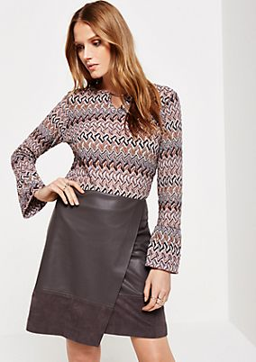 Extravagant knitted jumper with a decorative pattern from s.Oliver