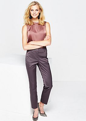 Satin trousers with a matte sheen and sophisticated details from s.Oliver