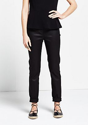Elegant, casual trousers with a sophisticated coating from s.Oliver