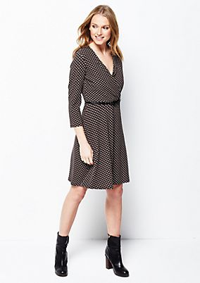 Beautiful, casual dress with a decorative, minimalist all-over print from s.Oliver