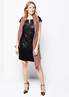 Extravagant business dress in soft imitation leather from s.Oliver