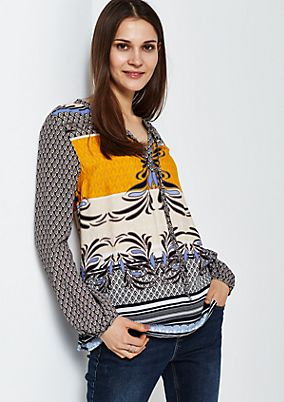 Delicate long sleeve crêpe blouse in a mix of patterns from s.Oliver