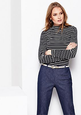 Classic long sleeve jersey top with a beautiful striped pattern from s.Oliver