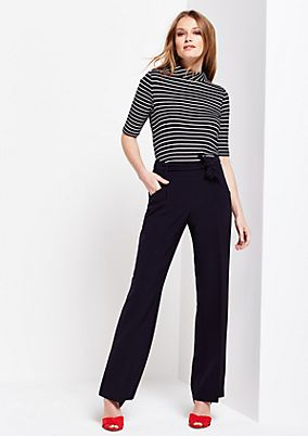 Soft shirt with 1/2-length sleeves and a striped pattern from s.Oliver