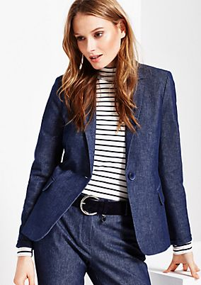 Extravagant blazer in a subtle denim look from s.Oliver