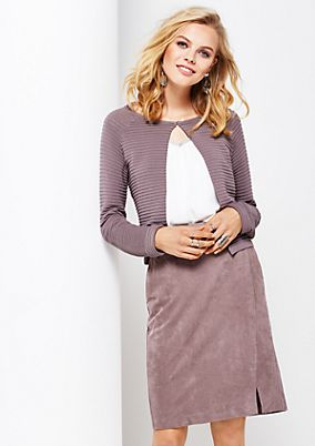 Short cardigan with a decorative ribbed finish from s.Oliver