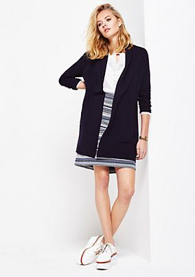 Soft cardigan in a ribbed look from s.Oliver