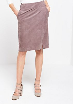 Soft faux suede skirt from s.Oliver