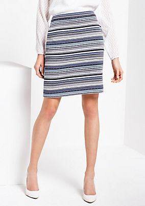 Elegant short skirt with a fine striped pattern from s.Oliver