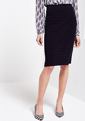 Elegant fine knit skirt with tonal stripes from s.Oliver