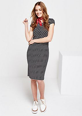 Beautiful sheath dress with a fine striped pattern from s.Oliver