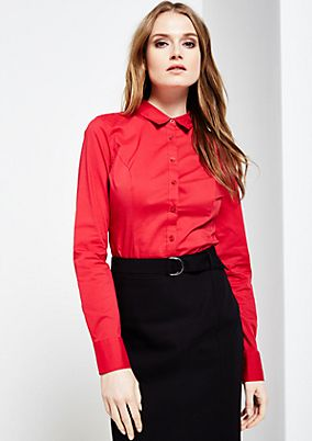 Sophisticated business blouse with a body element from s.Oliver