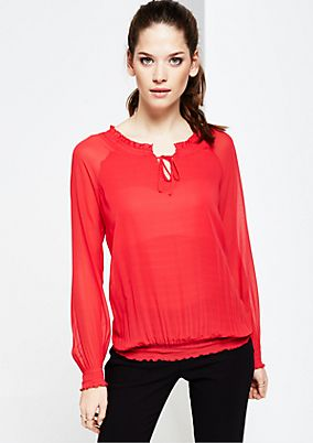 Delicate crêpe blouse with extravagant details from s.Oliver