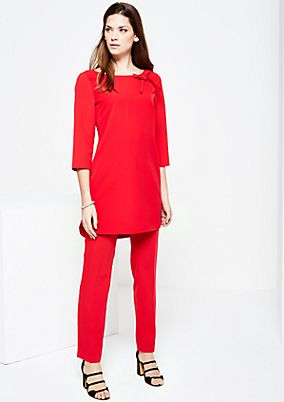Casual long blouse with an elegant bow from s.Oliver