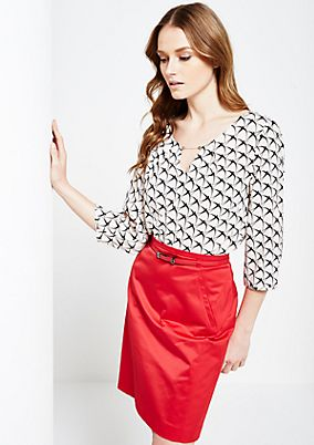 Fine crêpe blouse with a sophisticated all-over print and 3/4-length sleeves from s.Oliver