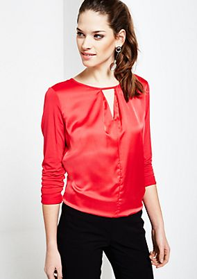 Beautiful long sleeve top in a sophisticated fabric blend from s.Oliver