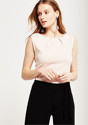 Soft knitted top with a fine texture from s.Oliver