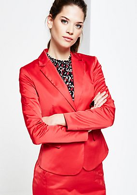 Elegant blazer in shiny satin from s.Oliver