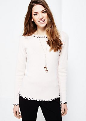 Soft knitted jumper with smart details from s.Oliver