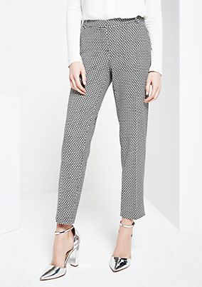 Elegant business trousers with an exciting minimal pattern from s.Oliver