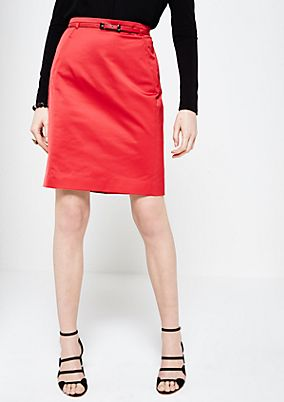 Elegant satin skirt with a belt from s.Oliver