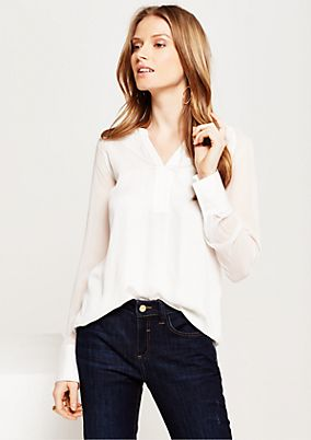Elegant blouse in a fascinating mix of materials from s.Oliver