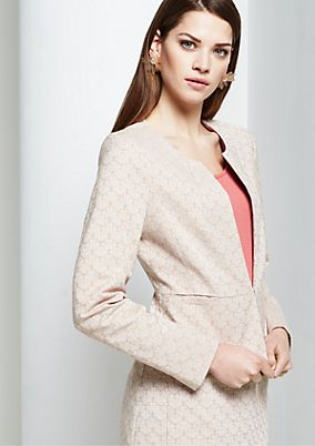 Elegant business blazer with a decorative all-over pattern from s.Oliver