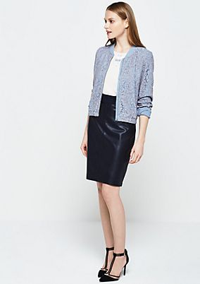Lightweight bomber jacket in fine lace from s.Oliver