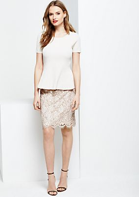 Elegant knit top with short sleeves from s.Oliver