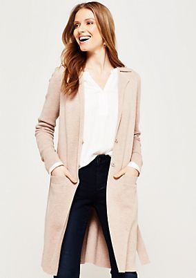 Soft, long cardigan with decorative details from s.Oliver