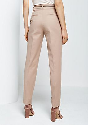 Elegant business trousers with fine details from s.Oliver