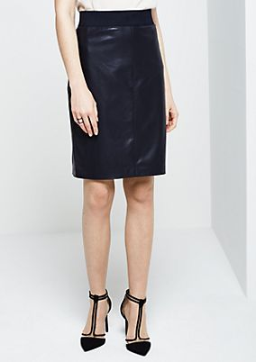 Elegant faux leather skirt from s.Oliver