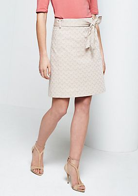 Elegant business skirt with a fine all-over pattern from s.Oliver