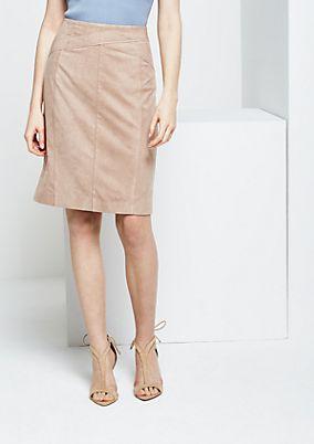 Extravagant velour skirt from s.Oliver