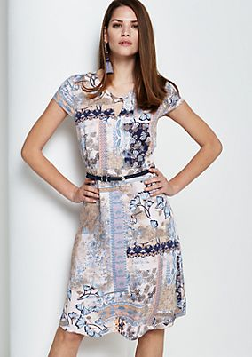 Casual summer dress in a sophisticated pattern mix from s.Oliver